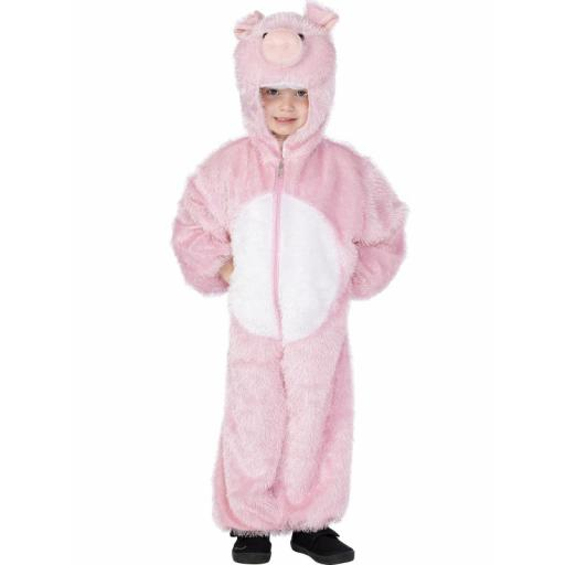 Pig Costume Jumpsuit with Hood