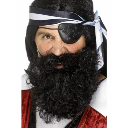 Pirate Beard Deluxe Black
