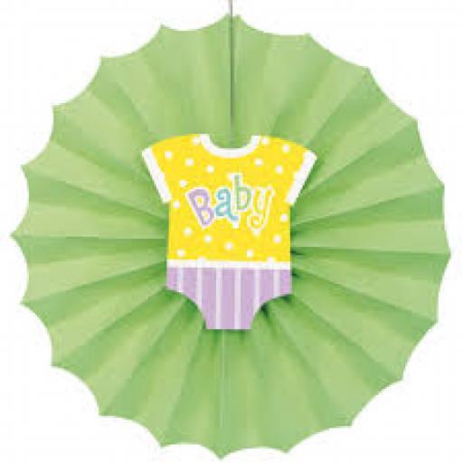 Baby Shower Decorative Paper Fan 12inch
