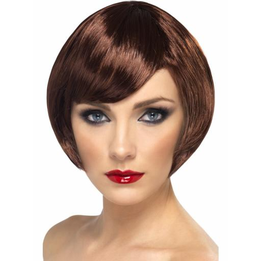 Babe Wig Brown Short Bob with Fringe