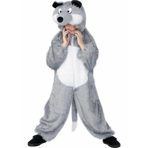 Wolf Costume Jumpsuit with Hood