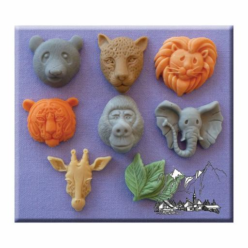 Large Animal Heads By Alphabet Moulds
