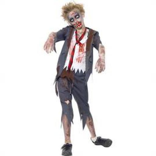 Zombie School Boy Costume Size S