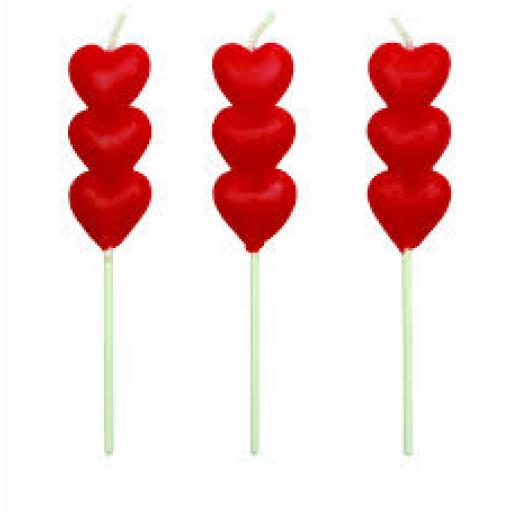 PME Red Heart Candles 8pc