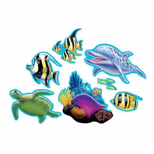 Ocean Party Cutouts 7 pcs