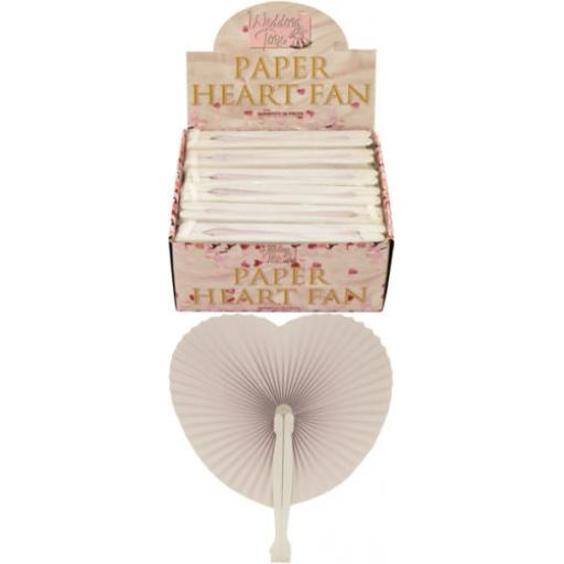 Paper Heart Fan White
