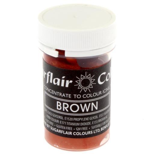 Sugarflair Pastel Brown Paste Food Colour 25g