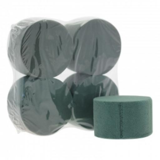 Shrink Wrapped Wet Foam Cylinders Set of 4