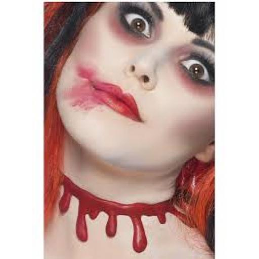 Slashed Up Blood Drip Choker