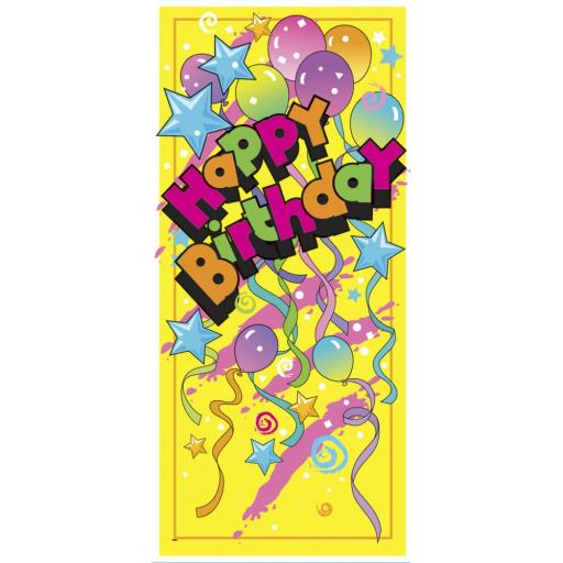 Party Door Poster/Banner Happy Birthday 27 x 60in