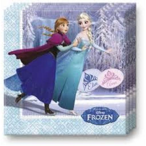 Frozen Iceskate Luncheon Napkins 20pcs