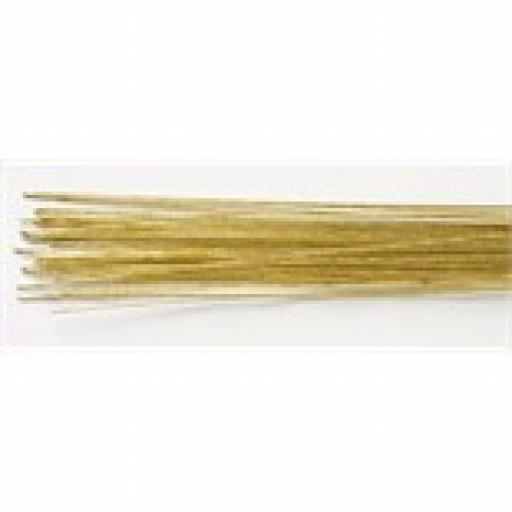 Gold Colour Wire For Sugar FLowers 24g 360mm, 50 wires in pack