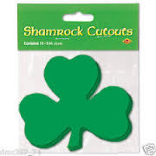 St Patricks Day shamrock cutouts