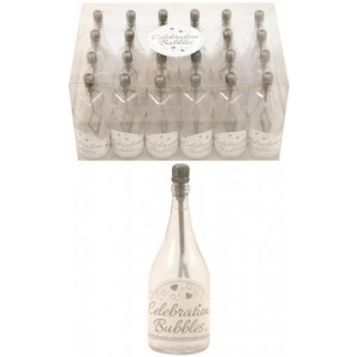 Bubble Bottle 9 cm Clear & Silver Wand