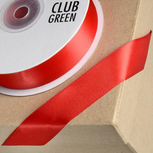 Double Sided Satin Ribbon 38mm x 1M Red