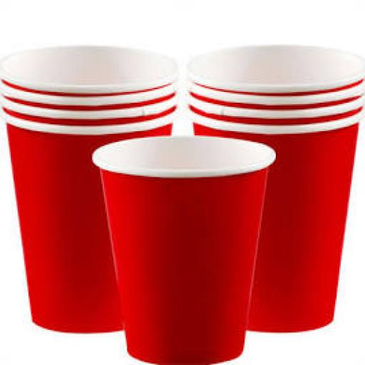 14 Ruby Red Paper Party Cups 9oz