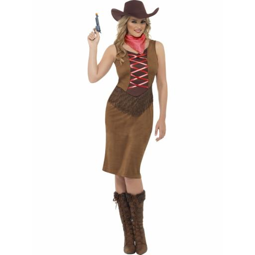 Fringe Cowgirl Dress neckerchief and hat