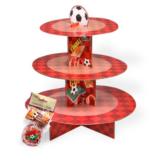 Football Cup Cake Kit Stand Red