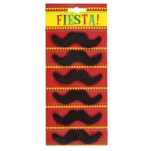 Fiesta Moustaches Set of 6