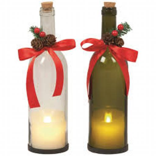 28cm Dancing Flame Candle Bottle With Timer
