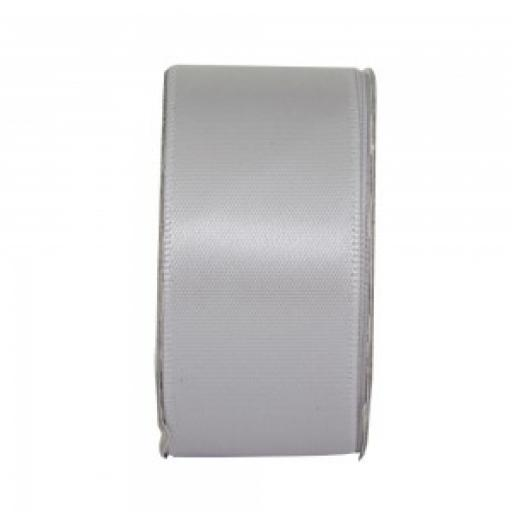 Double Sided Satin Ribbon 38mm x 1M Silver