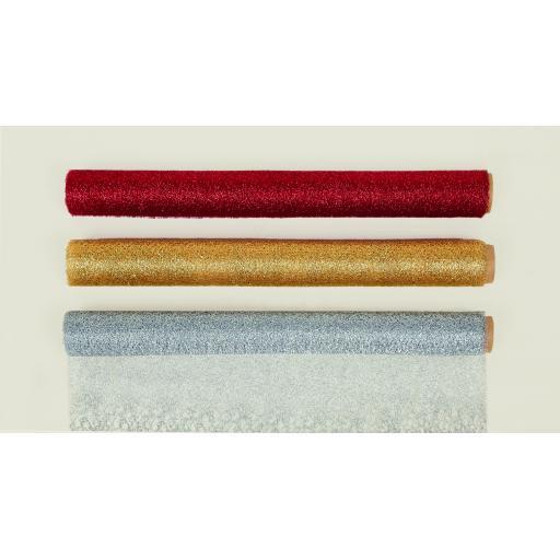Mesh Ribbon Glittery 3 Assorted Colour 48cmx2.7m