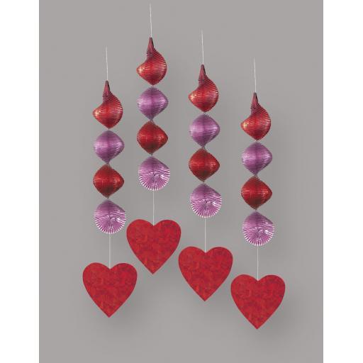 4 Prismatic Hanging Deco 18in Valentines