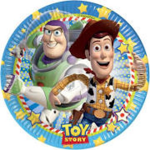Toy Story 8 Paper Plates 23cm