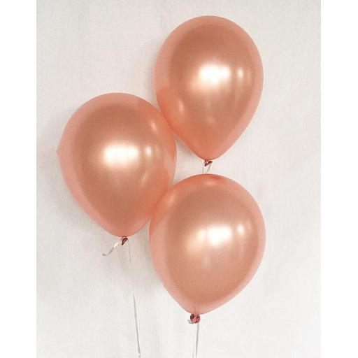 Met Peach 12 inch Latex Balloon 50 pcs Helium Quality