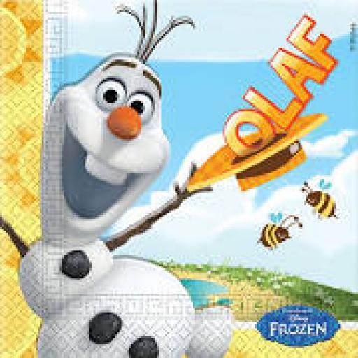 20 Olaf Summer Lunch Napkins 2ply 33x33cm