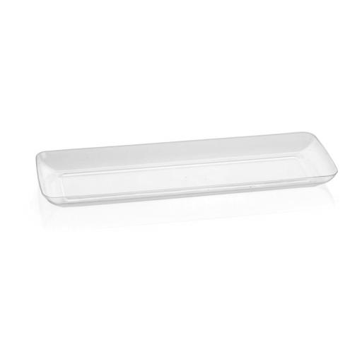 Mini Ware Clear Long Rectangular Plates 6pcs