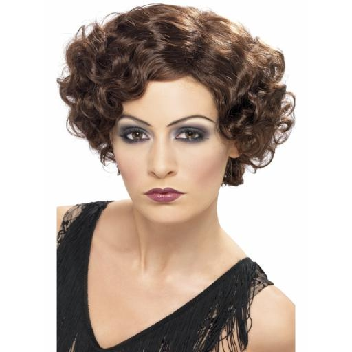 Flirty Flapper Wig Brown Short and Wavy
