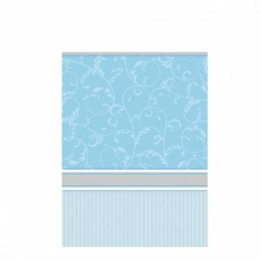Blessing Blue Plastic Tablecover - 137cm x 260cm