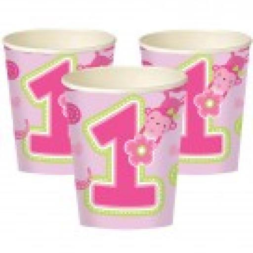 Wild Girl Pink ONE Paper Cups 8-9oz