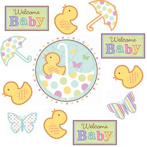 Baby Shower Cutouts 12pcs