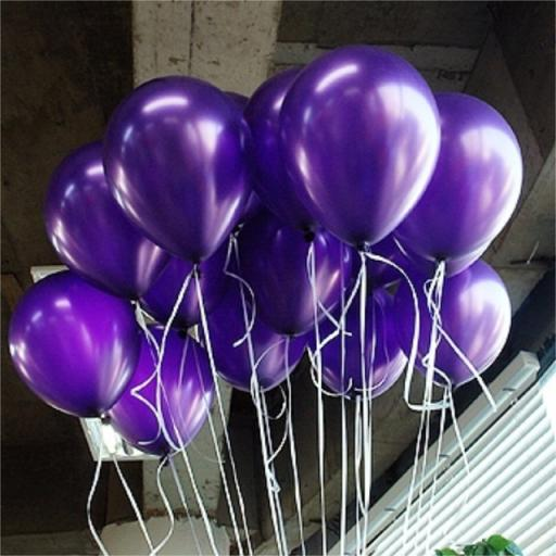 Met Purple 12inch Latex Balloon 50pcs