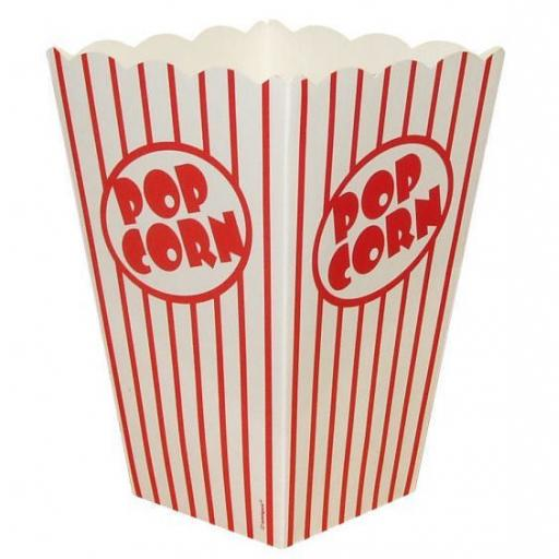 10 Popcorn Boxes Red & White Stipes 6.5 x 4 inches