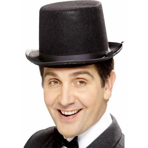 Black Felt Topper Hat Tales Of Old England