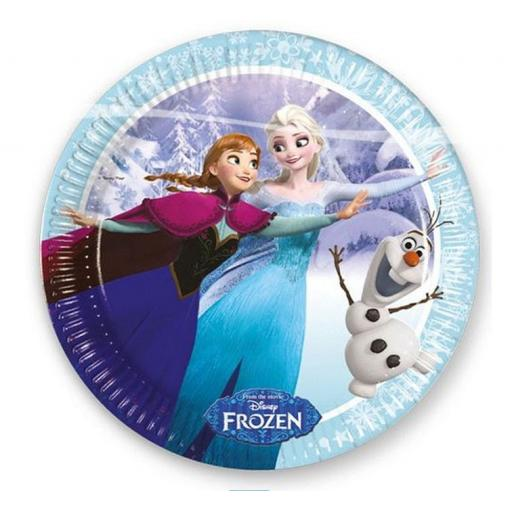 Frozen Iceskate Paper Party Plates 23cm 8pcs