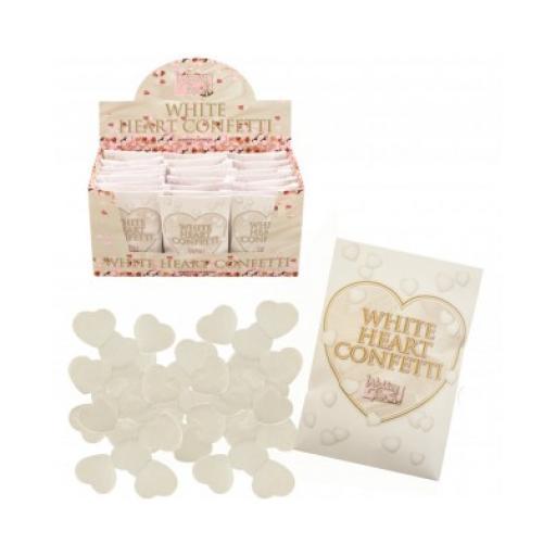 White Heart Confetti