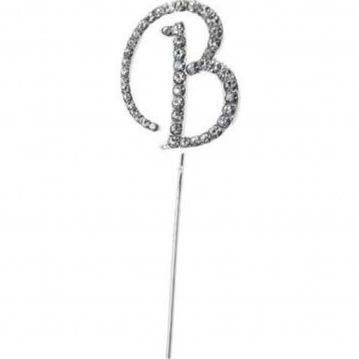 Diamante Letter B Cake Topper Decoration