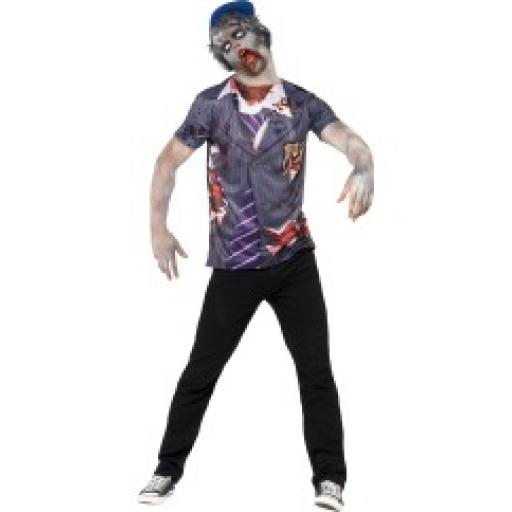 Zombie School Boy T-Shirt & Cap & Sublimation Prin