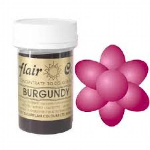 Sugarflair Spectral Burgundy Paste Colour 25g