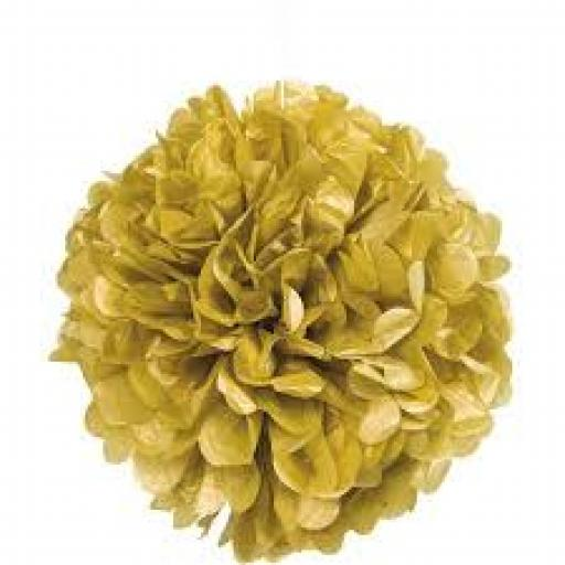 Paper Puff Ball Gold 16inch