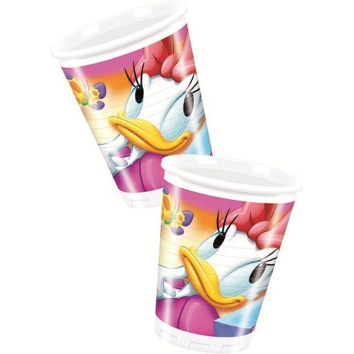 Daisy Duck Plastic cups 200ml 8pcs