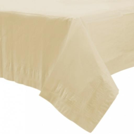 Vanilla Creme Paper Tablecovers 1.37m x 2.74m