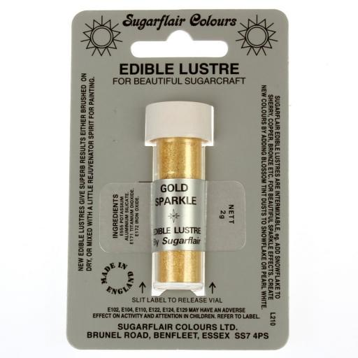 Sugarflair Edible Lustre Gold Sparkle 2g