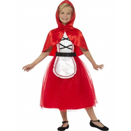 Deluxe Red Riding Hood Costume, Red, with Dress & Hood LRG