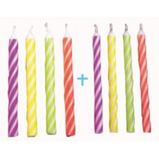 PME 24 Candles Blue Medium Striped