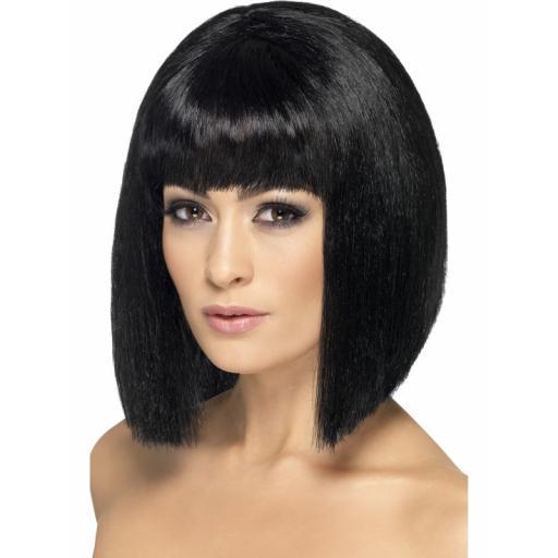 Coquette Wig Black Short & Fringe